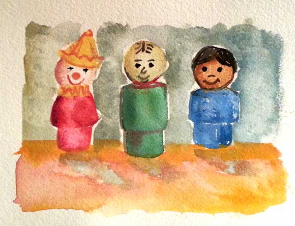 little people drawings mary gibney artist collages drawings